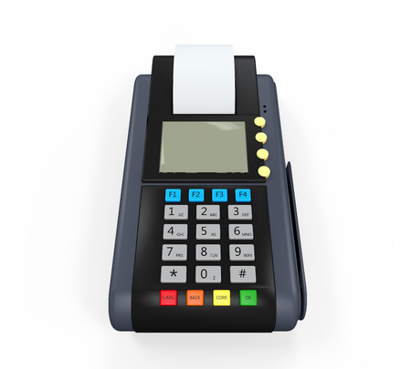 Credit Card Machine Isolated photo