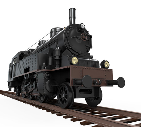railway history: Steam Locomotive Train