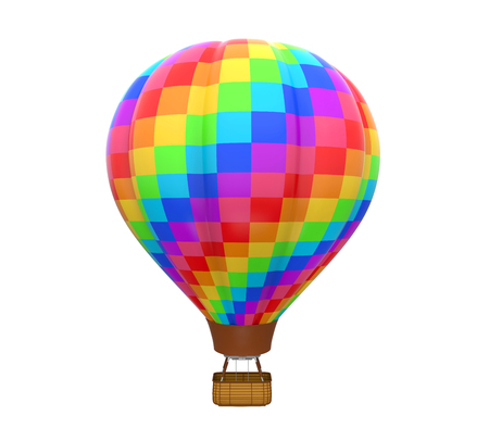 inflate: Colorful Hot Air Balloon Stock Photo