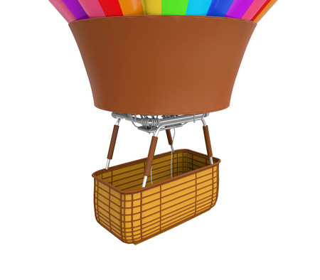 hot air ballon: Colorful Hot Air Balloon Stock Photo