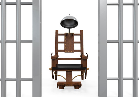 electrocuted: Electric Chair Isolated