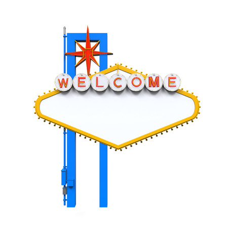 welcome sign: Blank Las Vegas Welcome Sign Stock Photo