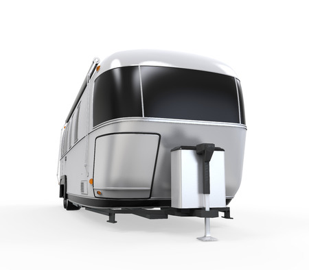 airstream: Airstream Camper Isolated Stock Photo
