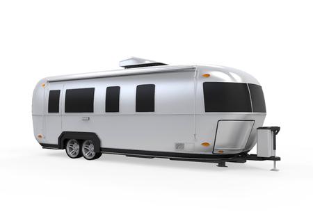 motor de carro: Airstream Camper aislada