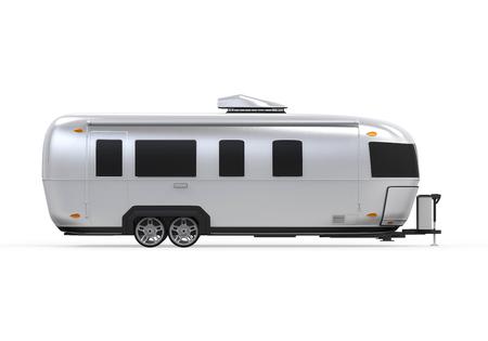 motor de carro: Airstream Camper Aislado