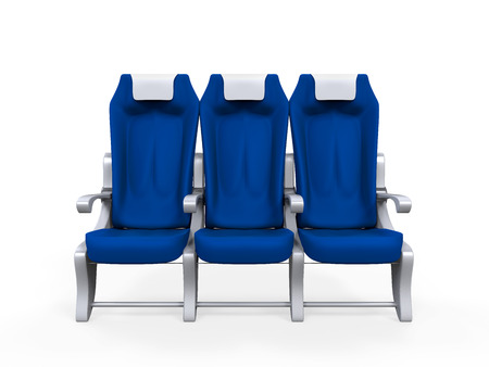 Airplane Seats Isolated photo