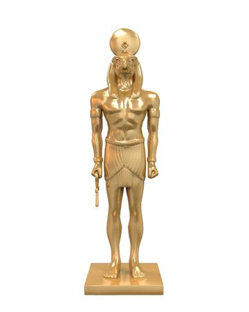 god 3d: Egyptian God Horus Statue Stock Photo