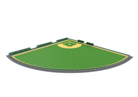 Baseball Field Isolated photo