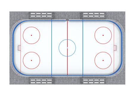 ice hockey: Ice Hockey Field Isolated
