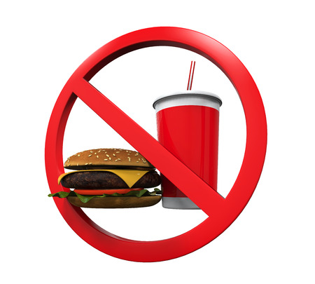 banned: No Food and Drink Sign