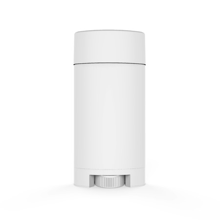 White Deodorant Container Stock Photo