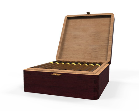 cigars: Cigar and Luxury Box Stock Photo