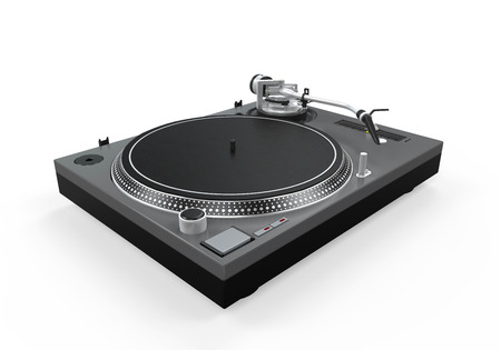 DJ Turntable Isolated photo