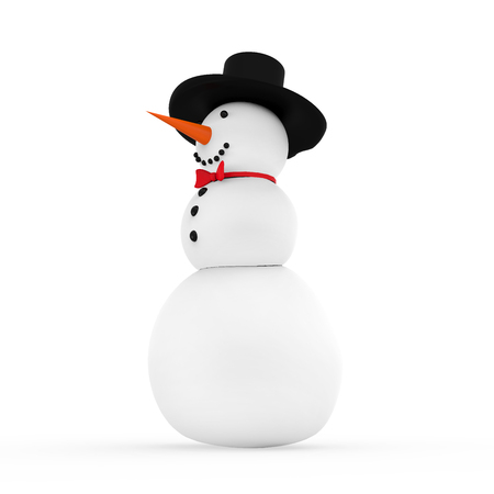 snowman isolated: Snowman Isolated Stock Photo