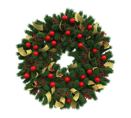 Christmas Wreath Decoration photo