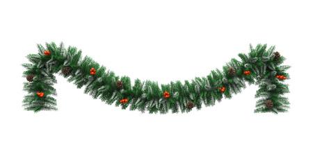 クリスマスの花輪の装飾