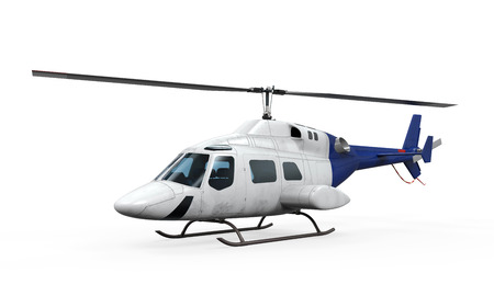 Blue Helicopter Isolated photo