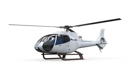 分離されたヘリコプター 写真素材