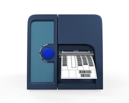 bar codes: Barcode Label Printer Stock Photo