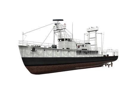 Fishing Boat Isolated Stock Photo