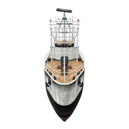 fisherman boat: Fishing Boat Isolated Stock Photo