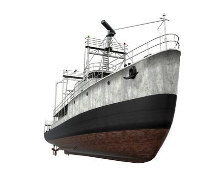 分離された漁船