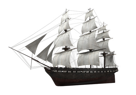 Sail Ship Isolated photo
