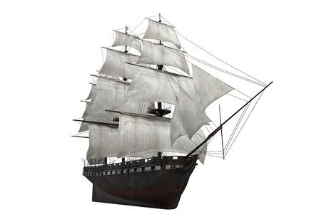 Navio de vela isolado Foto de archivo - 25110198