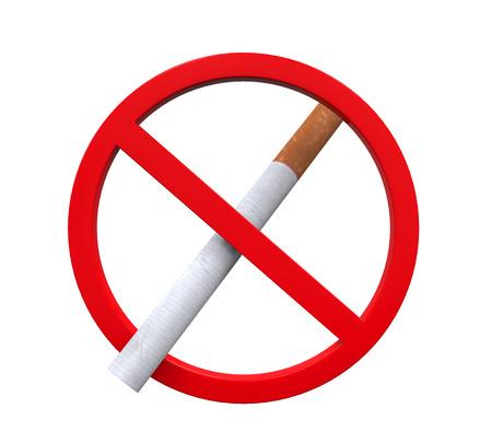 abstain: No Smoking Sign Stock Photo