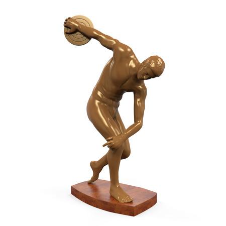 lanzamiento de disco: Myron Estatua aislada