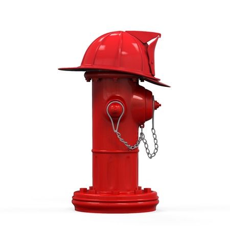 department head: Fire Hydrant with Fireman Hat Stock Photo