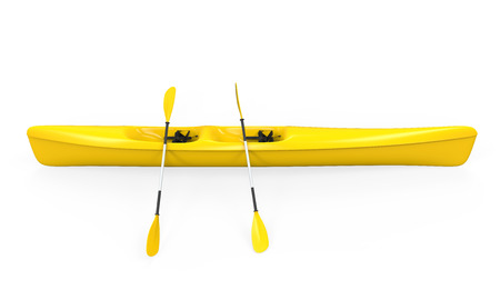 黄色のカヌー