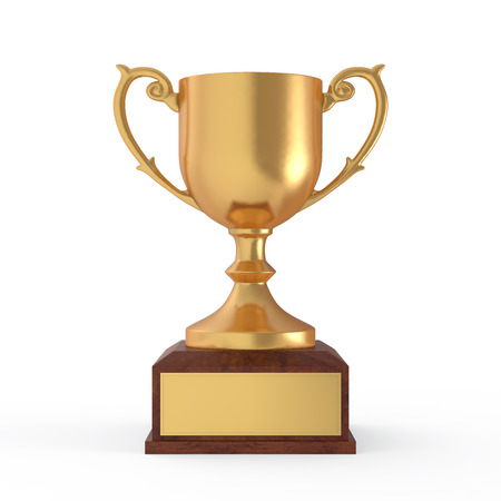 gild: Gold Trophy Stock Photo