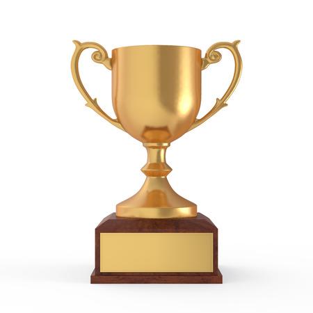 award background: Gold Trophy Stock Photo
