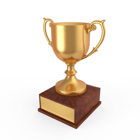 goblet: Gold Trophy Stock Photo