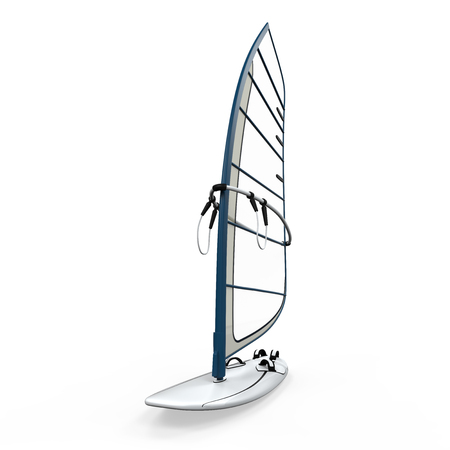 wind surfing: Sailboard Isolated