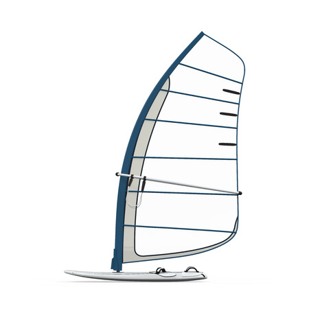 windsurf: Sailboard Isolated