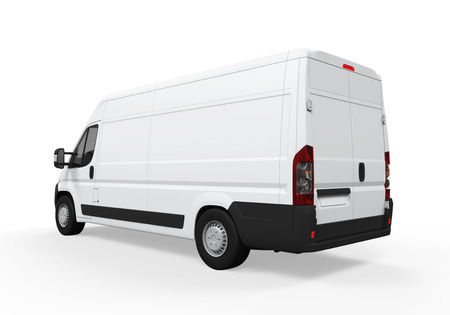 commercial van: Delivery Van Isolated Stock Photo
