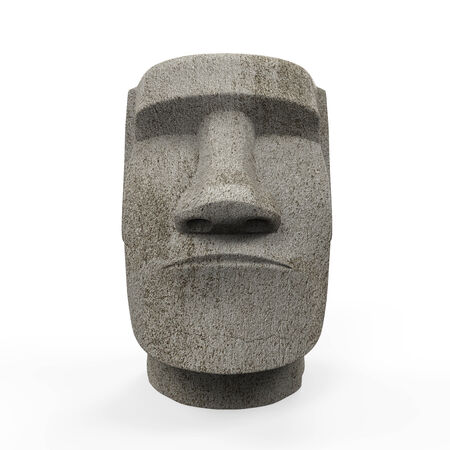 Moai Statue Isolated photo