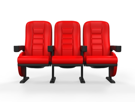 red chair: Red Theater Seat