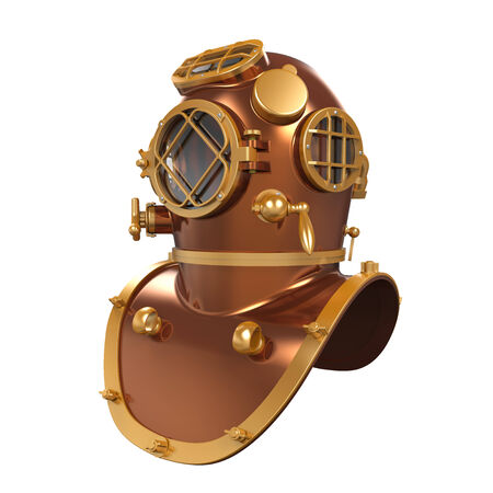 Old Diving Helmet Stock Photo