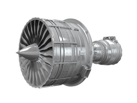 turbojet: Jet Engine Isolated Stock Photo