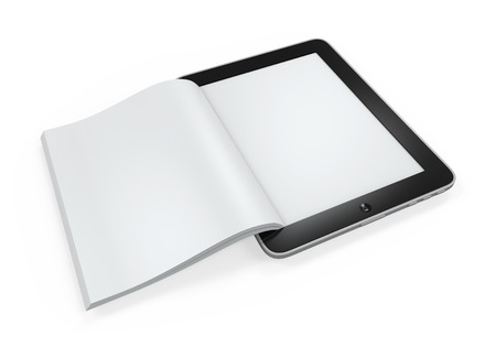 Book from Tablet Computer photo