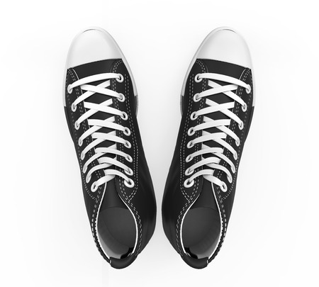 Black Sneakers Isolated photo