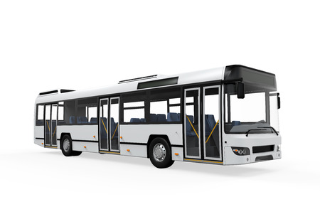 transportation: City Bus Isolato Archivio Fotografico