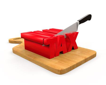 Tax Cut Concept photo