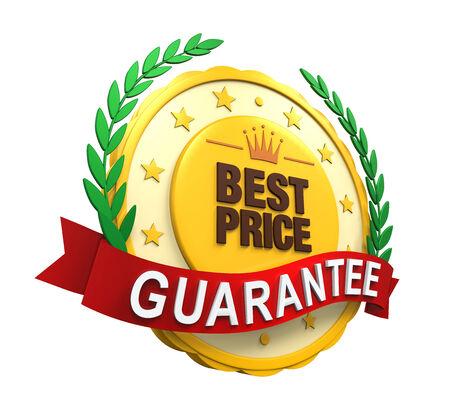 best price: Best Price Guaranteed Label Stock Photo
