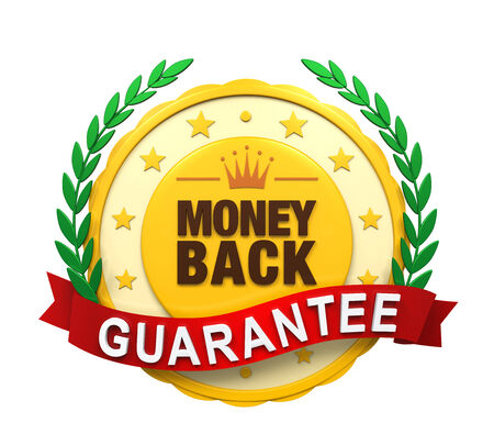 Money Back Guaranteed Label photo