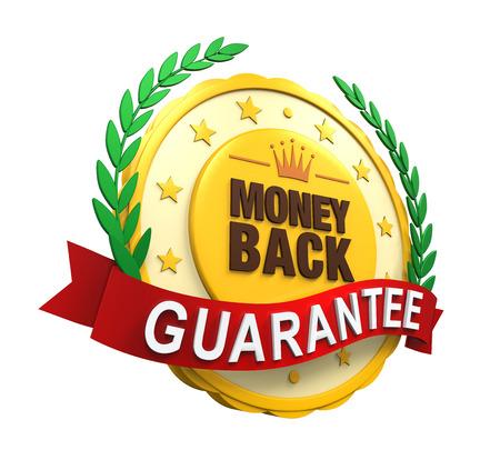 Geld terug garantie Label Stockfoto