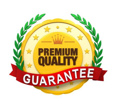 Premium Quality Guaranteed Label photo